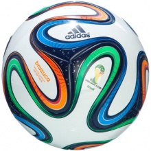 adidas Fußball Brazuca Top Replique, White/Night Blue Bild 1