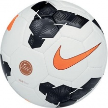 NIKE Fußball Club Team, White/Black/Total Orange, 4 Bild 1