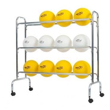 Sport-Tec Ballregal Ballwagen für max.12 Bälle,fahrbar Bild 1
