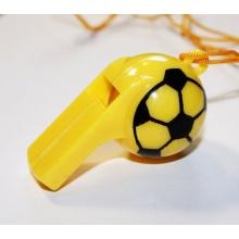 4er Set Trillerpfeifen, Signalpfeifen Fussball Design Bild 1