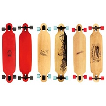 Nijdam Longboard mit Design,Blank Schwarz Rot, 42 zoll Bild 1