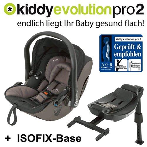 kiddy babyschale evolution pro 2 isofix base walnuss test. Black Bedroom Furniture Sets. Home Design Ideas