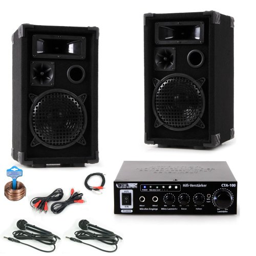 600w pa karaoke party dj compact 2 test. Black Bedroom Furniture Sets. Home Design Ideas