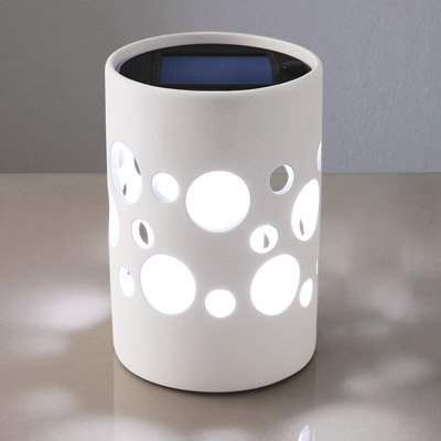 solar led leuchte aus keramik wei test. Black Bedroom Furniture Sets. Home Design Ideas
