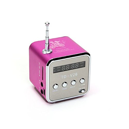 pixnor td v26 portable mini lautsprecher pink test. Black Bedroom Furniture Sets. Home Design Ideas