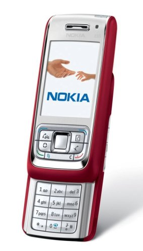 nokia e65 slider handy red silver test. Black Bedroom Furniture Sets. Home Design Ideas