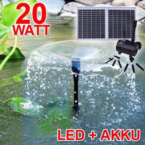 oasis 2002 1 solar teichpumpen set 20watt test. Black Bedroom Furniture Sets. Home Design Ideas