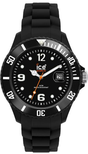 ice watch herren analog schwarz quarz si bk u test. Black Bedroom Furniture Sets. Home Design Ideas