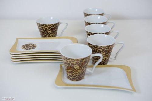 kaffeeservice modern leopard von tinas collection test. Black Bedroom Furniture Sets. Home Design Ideas