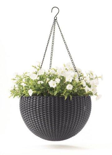 keter blumenampel hanging sphere test. Black Bedroom Furniture Sets. Home Design Ideas