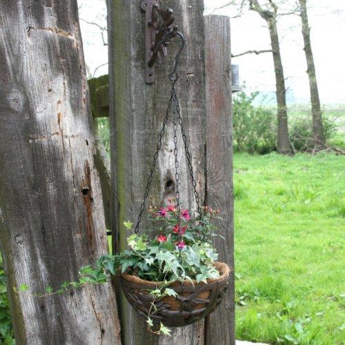 Blumenampel aus gusseisen mit vogel motiv 26cm bild 2 for Gartendeko aus gusseisen