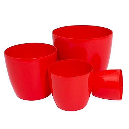3 5 liter blumentopf bertopf coubi serie rot 190 mm test for Blumentopf rot