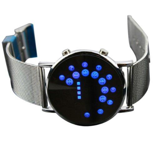 bestofferbuy led runde spiegel blaue kreise armbanduhr test. Black Bedroom Furniture Sets. Home Design Ideas
