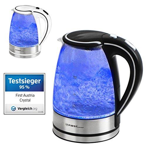 1 7 liter wasserkocher glas und edelstahl 2200 watt test. Black Bedroom Furniture Sets. Home Design Ideas