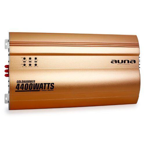 auna goldhammer 4 kanal auto endstufe 4400w super bass test. Black Bedroom Furniture Sets. Home Design Ideas