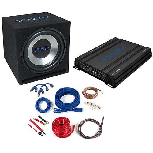 crunch subwoofer bassbox verst rker amplifier endstufe test. Black Bedroom Furniture Sets. Home Design Ideas