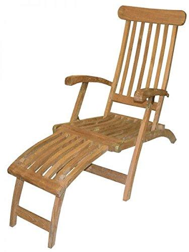 Deckchair Teakholz mit Armlehnen Bild 1