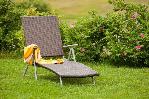 merxx deckchair mit kunststoffgeflecht test. Black Bedroom Furniture Sets. Home Design Ideas