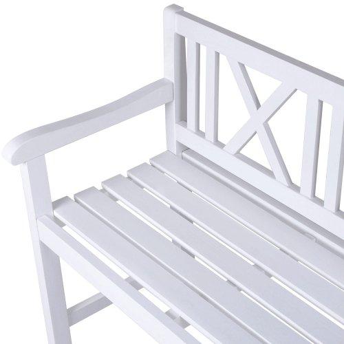 gartenbank weiss test. Black Bedroom Furniture Sets. Home Design Ideas