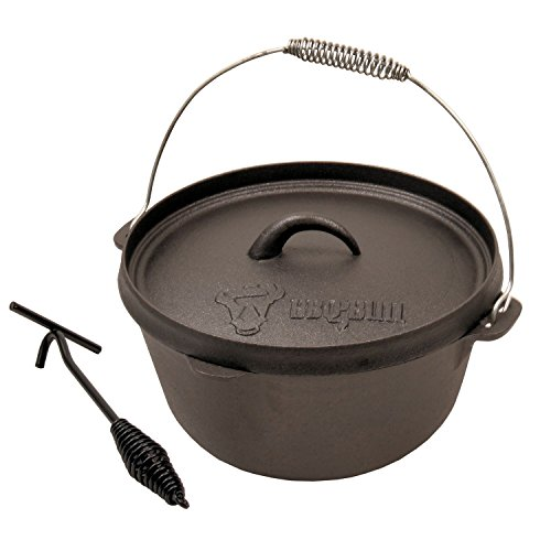 bbq bull 8qt dutch oven topf do8 gusseisentopf test. Black Bedroom Furniture Sets. Home Design Ideas