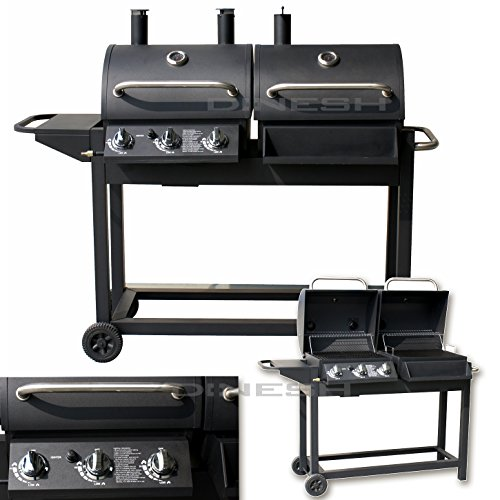 di nesh duo smoker gasgrill barbecue bbq grillwagen test. Black Bedroom Furniture Sets. Home Design Ideas