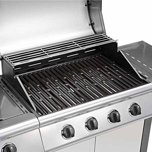 gasgrill bbq grillwagen 4 edelstahl brenner clictrade test. Black Bedroom Furniture Sets. Home Design Ideas