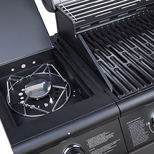 gasgrill bbq grillwagen 6 edelstahl brenner clictrade test. Black Bedroom Furniture Sets. Home Design Ideas