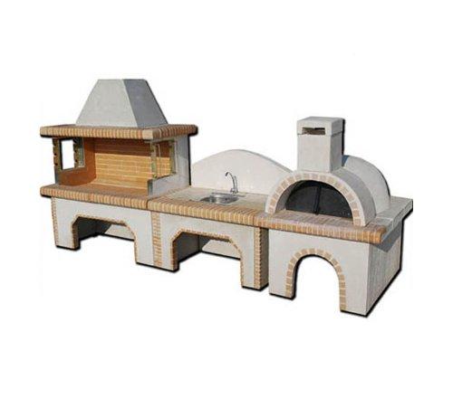 gartengrillkamin aus stein luxus set akropolis von ak test. Black Bedroom Furniture Sets. Home Design Ideas
