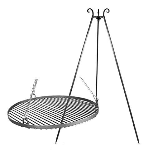 farmcook schwenkgrill dreibein feuerschale pan 41 70cm test. Black Bedroom Furniture Sets. Home Design Ideas