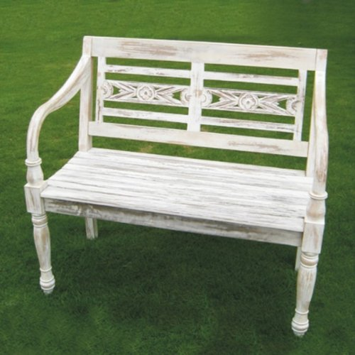 gartenbank white 2 sitzer teak test. Black Bedroom Furniture Sets. Home Design Ideas