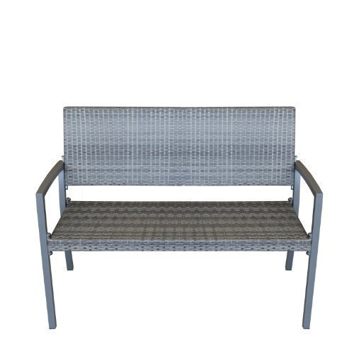Gartenmobel Hoffner Munchen : Gartenbank 2Sitzer Aluminium 117x86x55cm Grau Bild 1