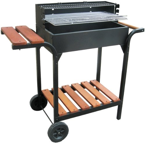 km firemaker grill holzkohle mit stabilem grillgeh use test. Black Bedroom Furniture Sets. Home Design Ideas