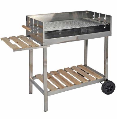 xxl edelstahl grillwagen holzkohlegrill fahrbar test. Black Bedroom Furniture Sets. Home Design Ideas
