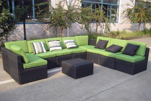gartenlounge 10tlg sitzgruppe polyrattan gr n bild 2. Black Bedroom Furniture Sets. Home Design Ideas