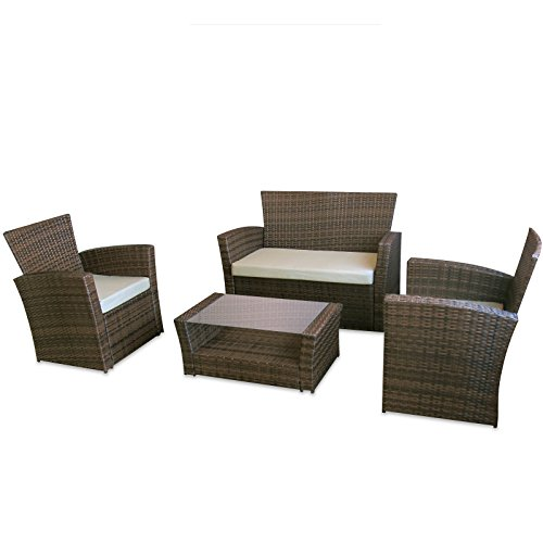 gartenlounge polyrattan braun test. Black Bedroom Furniture Sets. Home Design Ideas