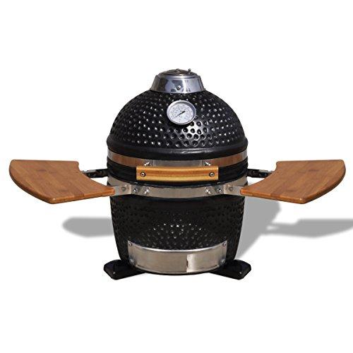 vidaxl kamado barbecue grill r ucherofen keramik test. Black Bedroom Furniture Sets. Home Design Ideas