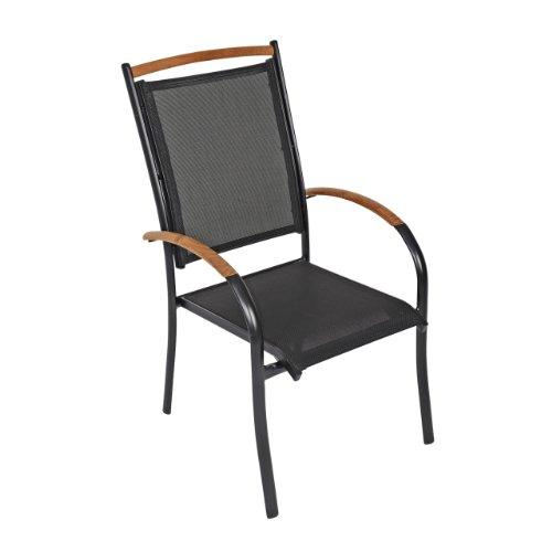 gartenstuhl antrazit teakholz test. Black Bedroom Furniture Sets. Home Design Ideas