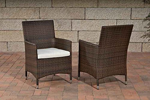 clp polyrattan gartenstuhl braun test. Black Bedroom Furniture Sets. Home Design Ideas