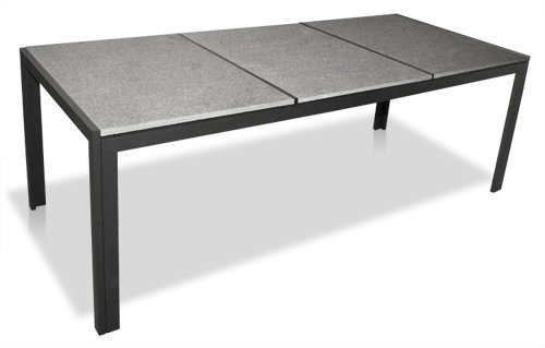 kmh gartentisch mit 3 granitplatten 220x95 test. Black Bedroom Furniture Sets. Home Design Ideas