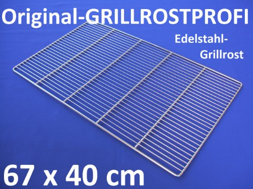 edelstahl grillrost 67 x 40 cm grillrostprofi test. Black Bedroom Furniture Sets. Home Design Ideas