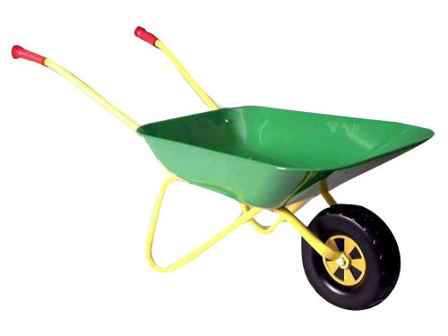 rolly toys kinder schubkarre aus metall gr n gelb test. Black Bedroom Furniture Sets. Home Design Ideas