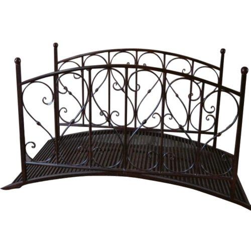 gartenbr cke 145x79x92cm metall rost optik test. Black Bedroom Furniture Sets. Home Design Ideas