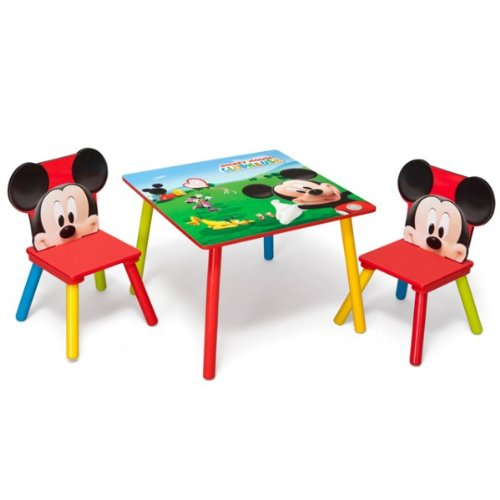 disney mickey mouse tisch mit st hlen kindersitzgruppe test. Black Bedroom Furniture Sets. Home Design Ideas