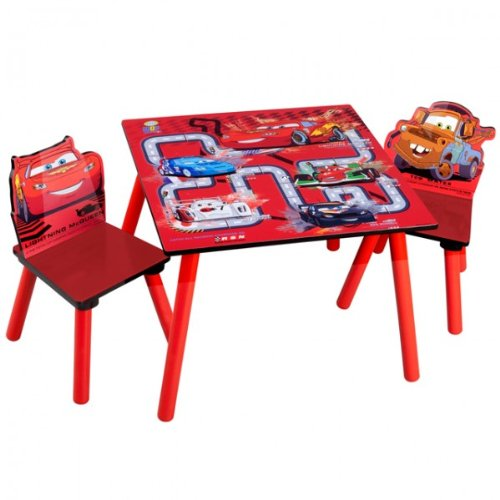 disney cars tisch mit 2 st hlen kindersitzgruppe test. Black Bedroom Furniture Sets. Home Design Ideas