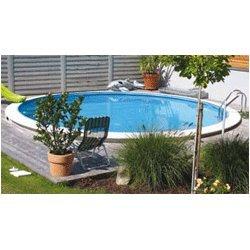 schwimmbecken tiefbeckenset rund eingelassener pool test. Black Bedroom Furniture Sets. Home Design Ideas