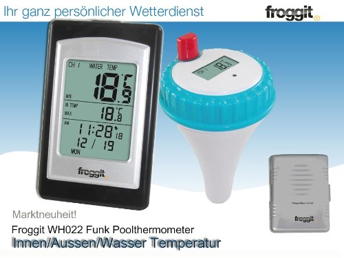 funk poolthermometer froggit wh022 2 sensoren test. Black Bedroom Furniture Sets. Home Design Ideas