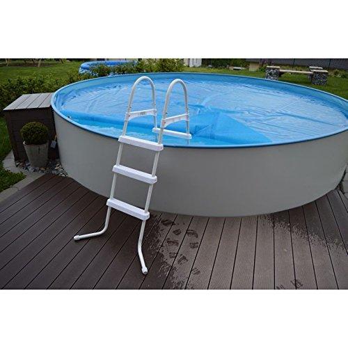 Stahlrohrleiter poolleiter bis 1 20m weixelbaumer test for Garten pool testbericht