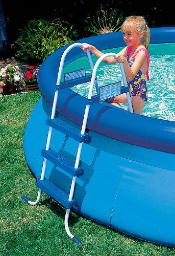 Intex poolleiter pool leiter 91cm neu test for Garten pool testbericht