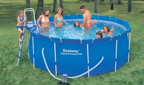 stahlrahmen pool set pro 366 x 122 cm bestway test. Black Bedroom Furniture Sets. Home Design Ideas