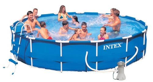 intex 28234 metall frame pool stahlrahmen test. Black Bedroom Furniture Sets. Home Design Ideas